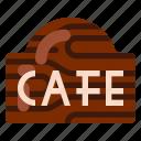 beverage, cafe, coffee shop, food, shop, sign icon