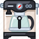 cafe, coffee, coffeemaker, drink, percolator, shop, yumminky icon