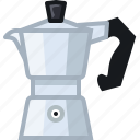 coffee, coffeemaker, drink, making, percolator, presso, yumminky icon