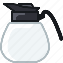 caffeine, coffee, drink, jar, jug, pitcher, yumminky icon