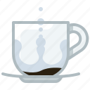 brewing, coffee, cup, drink, glass, water, yumminky icon