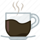 caffeine, coffee, cup, drink, glass, hot, yumminky icon