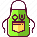 apron, baking, chef, colored, cooking icon
