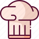 baking, chef, colored, cooking, hat icon