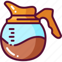 coffee, colored, pot icon