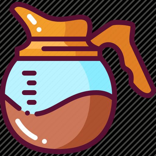 coffee, colored, pot icon