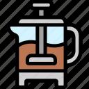 coffee, french, press, shop