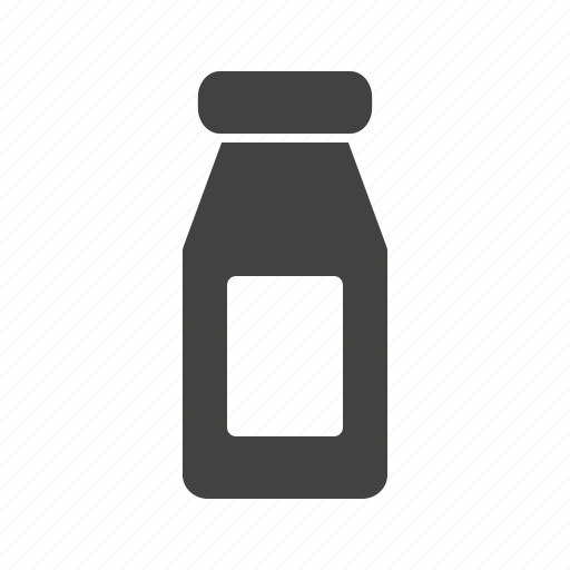 bottle, dairy, drink, food, healthy, milk, white icon
