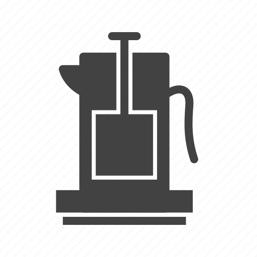 coffee, cup, french, fresh, pot, press icon