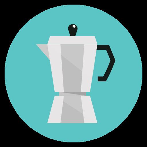 cafe, coffee, drink, espresso, hot, moga pot icon