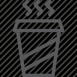beverage, caffeine, coffee, drink, fluid, glass, hot, portable icon