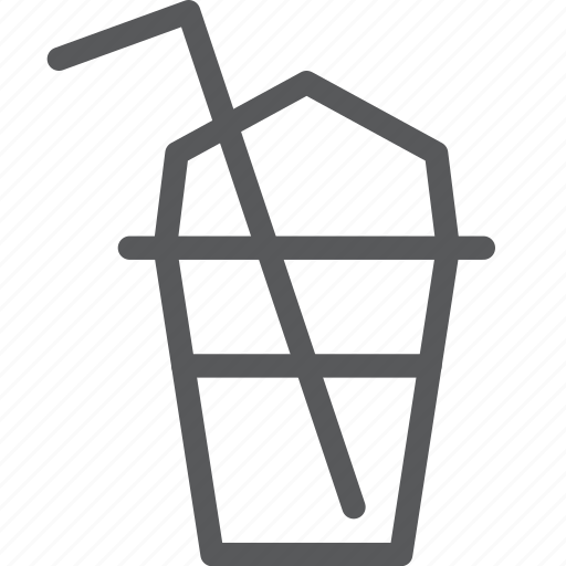 beverage, drink, fluid, glass, ice, plastic, portable, smoothie icon