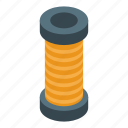 business, cable, cartoon, coil, isometric, logo, music
