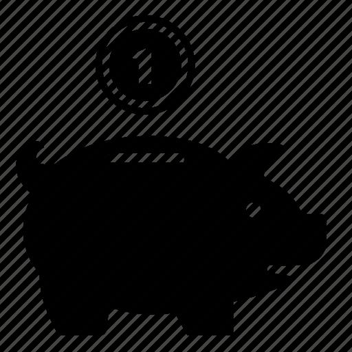 bank, coin, deposit, money, storage icon