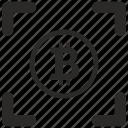 b, bitcoin, blockchain, money, round icon