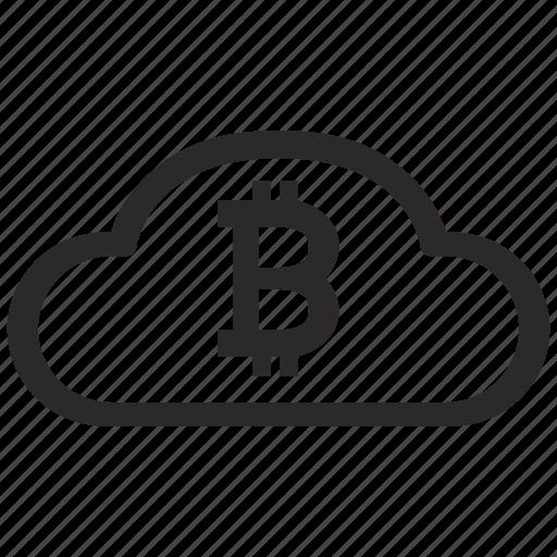 bank, bitcoin, blockchain, cloud, value icon