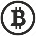 bitcoin, coin, money, sign icon