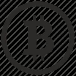 bitcoin, coin, money, sign icon