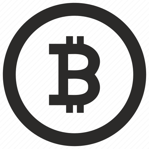 B Bitcoin Blockchain Circle Label Money Round Icon