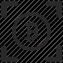 b, bitcoin, blockchain, label, money, round icon