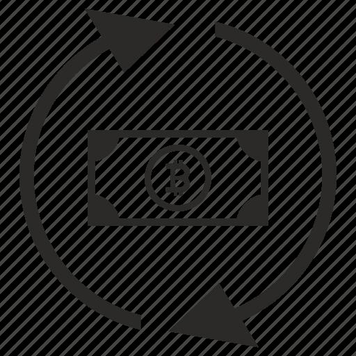 b, bitcoin, cash, exchange, money, value icon