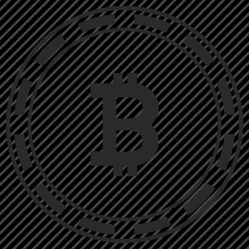 b, bitcoin, coin, money, round, value icon