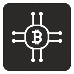 b, bitcoin, chip, chipset, cpu, money, value icon