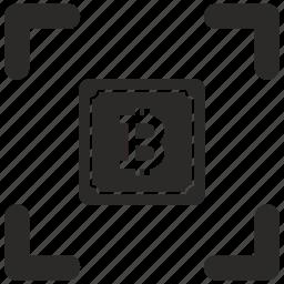 bitcoin, cpu, money, square, transfer icon