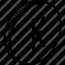 coin, kip icon