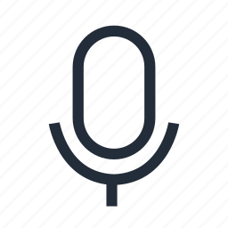communication, microphone icon