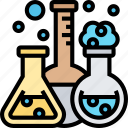 flask, chemistry, science, laboratory, experiment