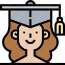 mortarboard, graduation, education, academy, diploma