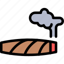 cigar, colombia, country, south america, travel icon