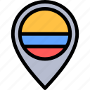 colombia, country, placeholder, south america, travel icon