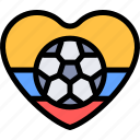colombia, country, football, south america, travel icon