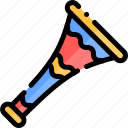 colombia, country, south america, travel, trumpet icon