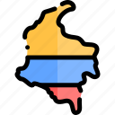 colombia, country, south america, travel icon