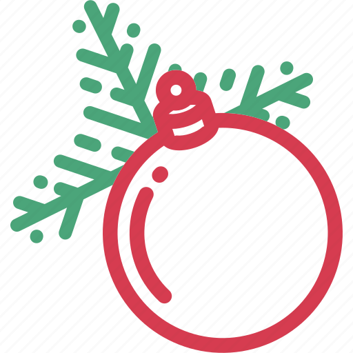 ball, bauble, christmas, holidays, tree, twig icon