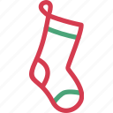 christmas, cloth, decoration, gift, socks, winter