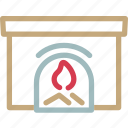 curn, fire, flame, house, place, warm, winter icon