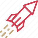 celebration, firecracker, fireworks, petard, rocket, salut icon