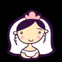 avatar, bride, girl, heart, love, person, woman icon