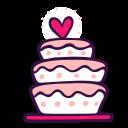 cake, dessert, love, party, sweet, topper, wedding icon