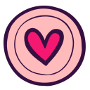 circle, doodle, favorite, heart, like, plate, valentine icon