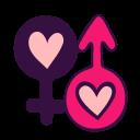 mars, venus, man, heart, sign, love, woman icon