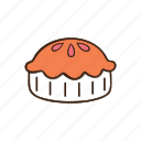 bakery, cooking, dessert, kitchen, pastry, pie, sweet icon