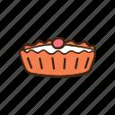 bakery, cooking, dessert, kitchen, pastry, sweet, tart icon