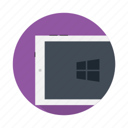 device, electronic, microsoft, pad, touchpad, windows icon