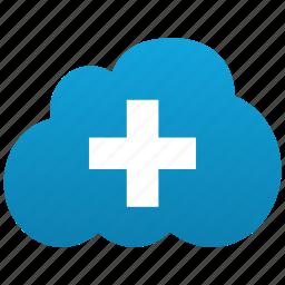 add, addition, additional, cloud, create, new, plus icon