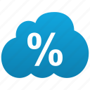 calc, cloud, keeping, math, percent icon
